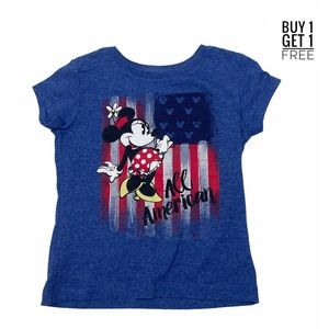 Disney Minnie Mouse Blue / Red Patriotic Tee XS/4